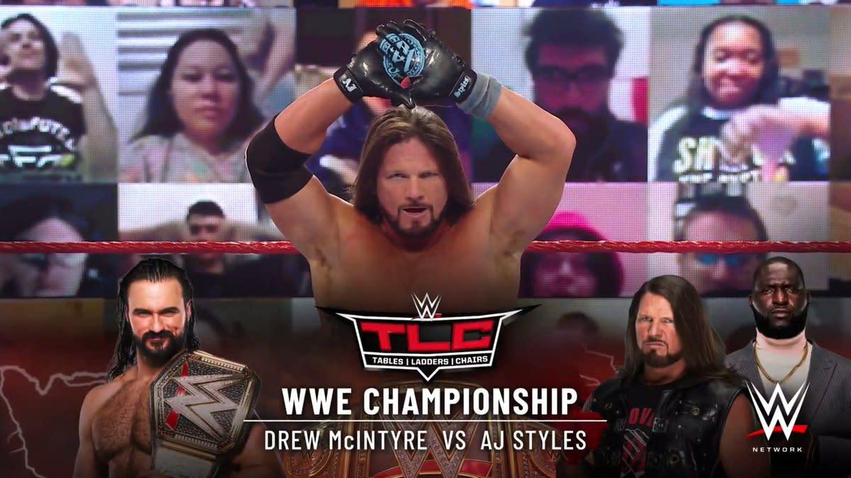 Drew McIntyre vs. AJ Styles title match set for WWE TLC