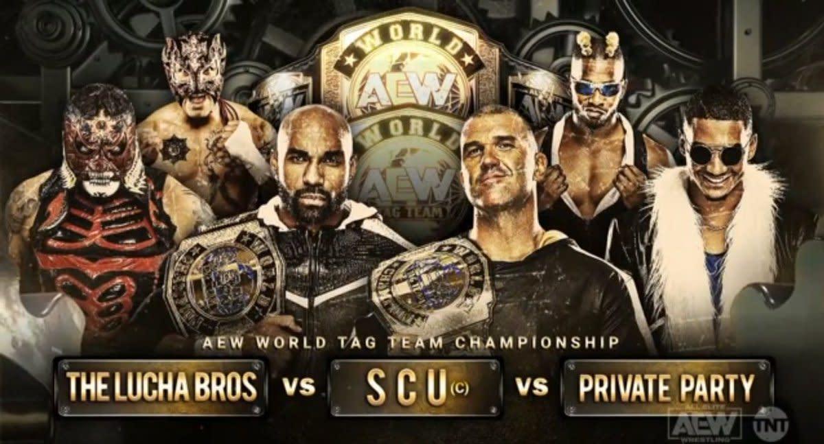 Triple threat AEW Tag Team title match set for Full Gear