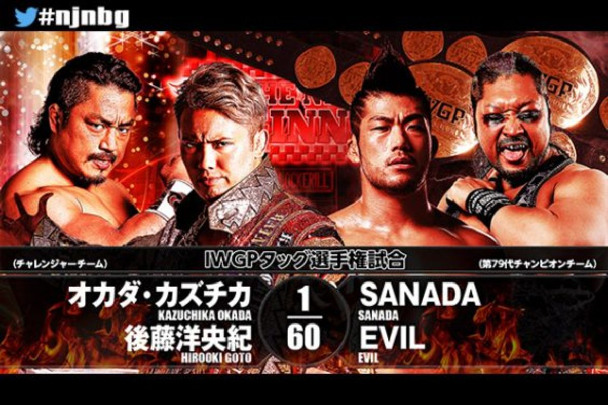 Njpw Road To New Beginning Recap Sanada Evil Vs Okada Goto
