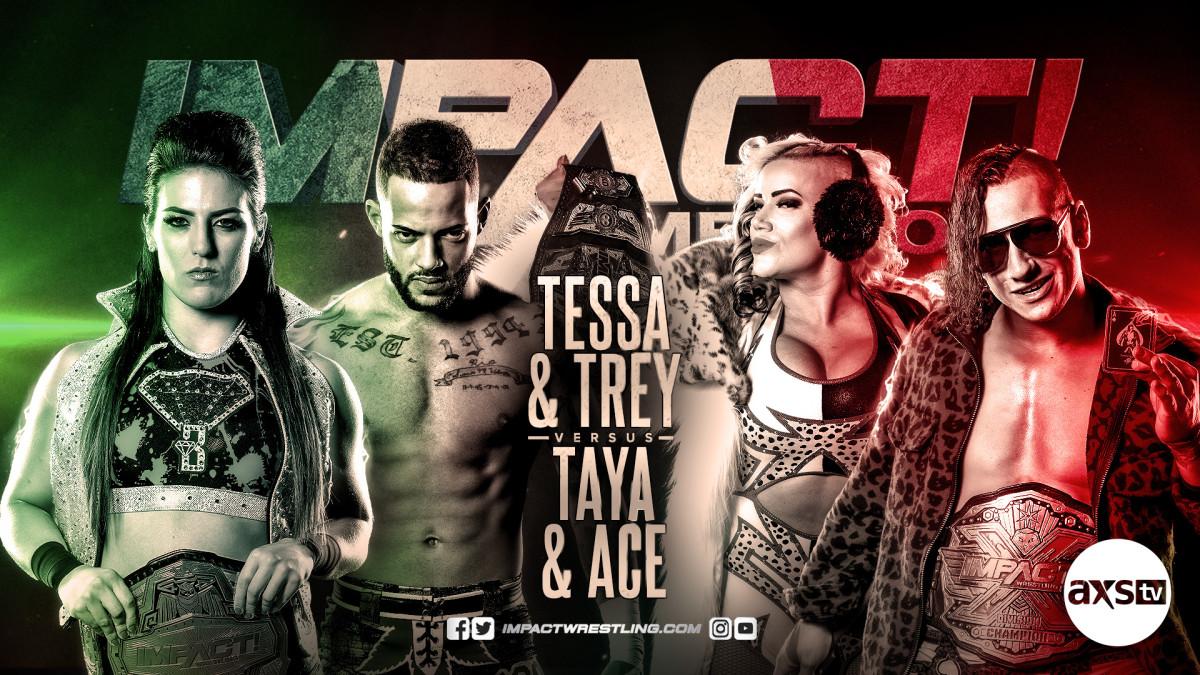 Impact Wrestling results: Tessa & Trey Miguel vs Taya & Ace Austin