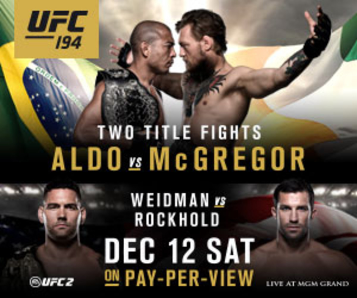 UFC 194 takes place on Saturday night in Las Vegas, Nevada.