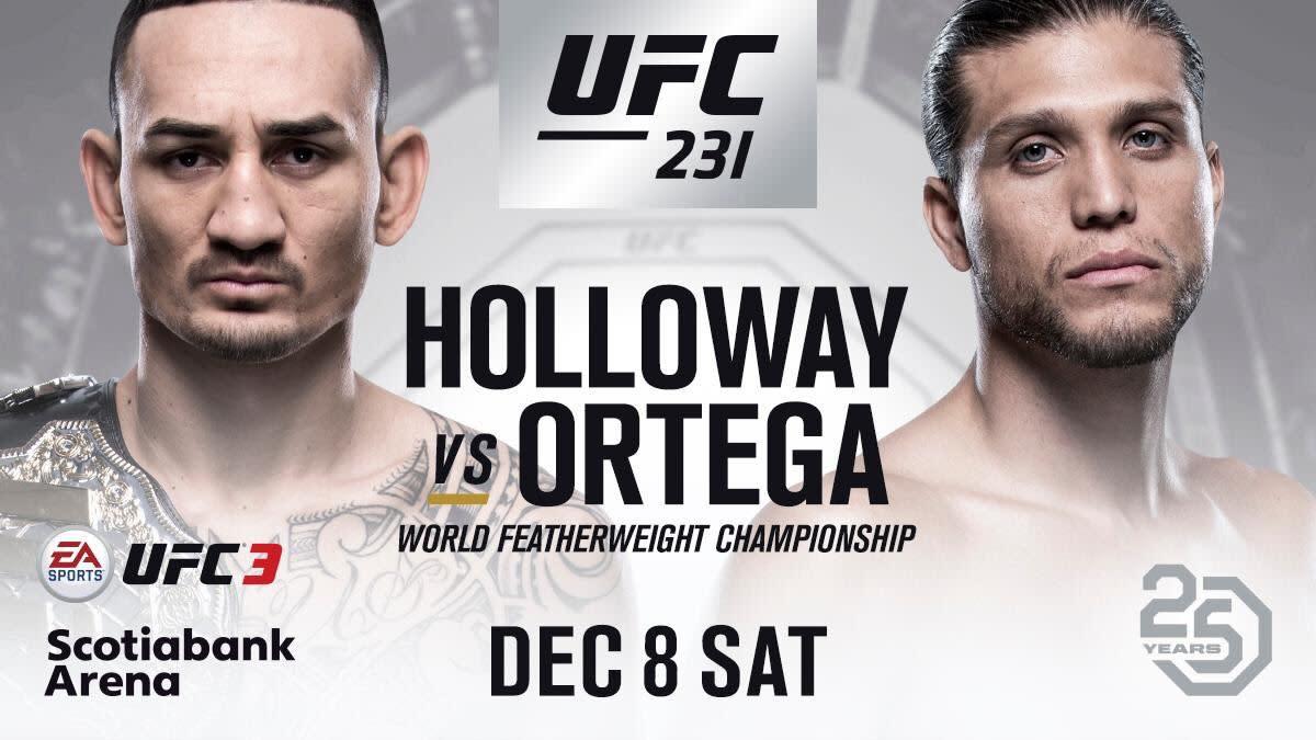 Max Holloway vs. Brian Ortega