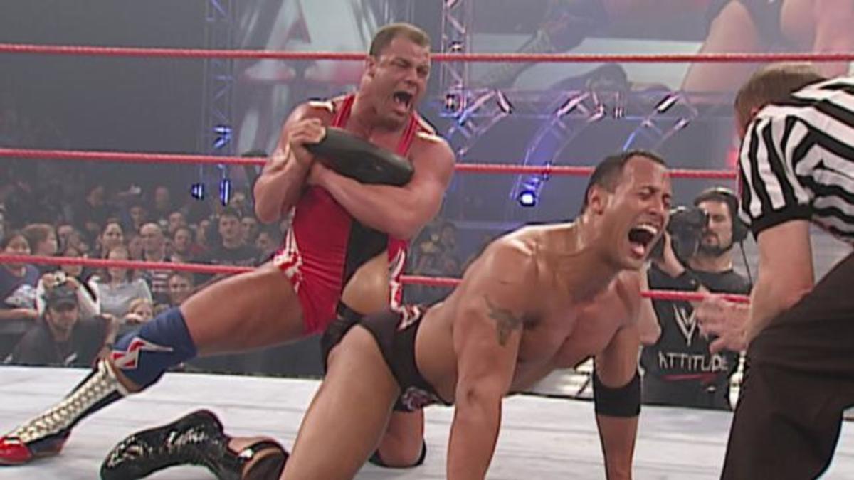 Kurt Angle vs. The Rock